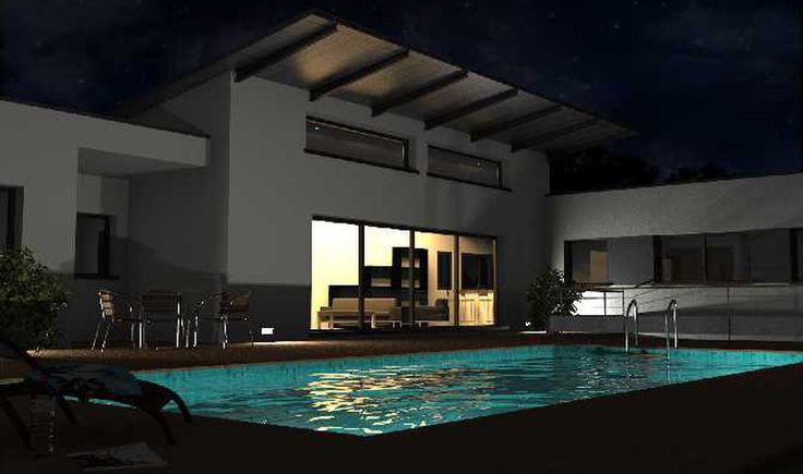 Maison contemporaine design moderne piscine http www fromont
