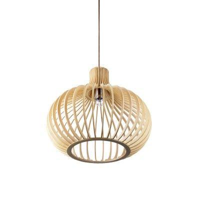 Wood Stick Bubble Ceiling Lighting Pendant