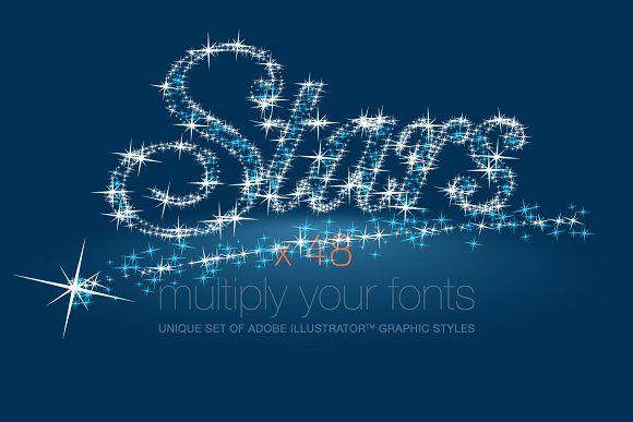 AI CS5 graphic styles shining Stars by popskraft lab on @creativemarket