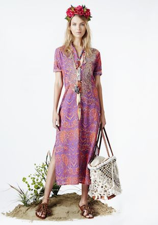 Figue Thandie Kaftan and Tuk Tuk Tote: