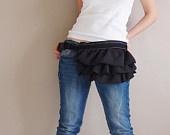 KINIES GATHERED Waist Purse in black - Fanny Pack / Hip Bag. $40.00, via Etsy.