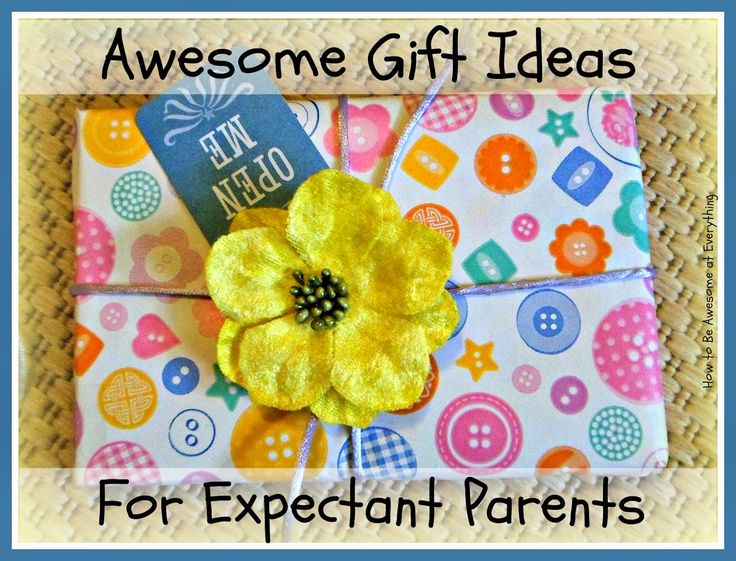 Awesome Gifts for Expectant Parents.  Unique and fun gift ideas for parents-to-be, with links for easy online shopping! #newbaby #gifts