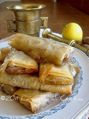 Mini strudel di mele con pasta fillo( phyllo) - Mini strudel de mere cu foi de placinta - Mini apple strudel in phyllo dough
