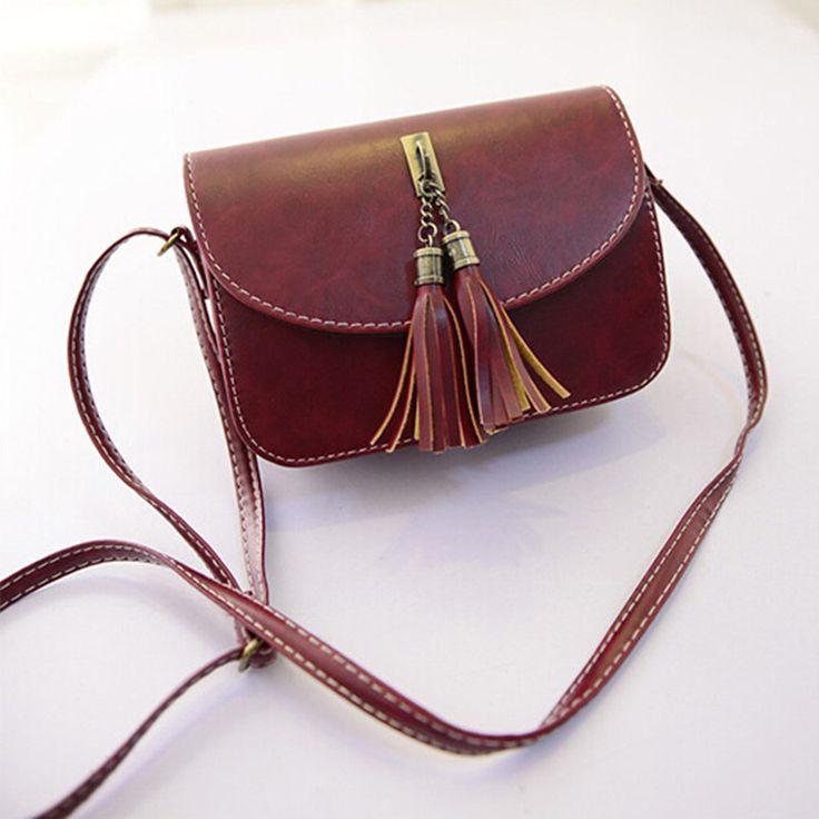 $5.00 Clearence Fashion Woman Bag Leather Flap Female Tassel Small Handbags Purses Shoulder Handbag Women Messenger Bags Bolsa Sac