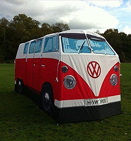 VW Camper Van Tent - never lose your tent again with this true-to-size replica of a retro classic #camping hiking festival travel