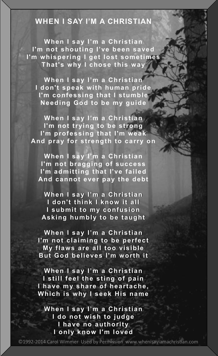 58 Best When I Say I Am A Christian Images On Pinterest