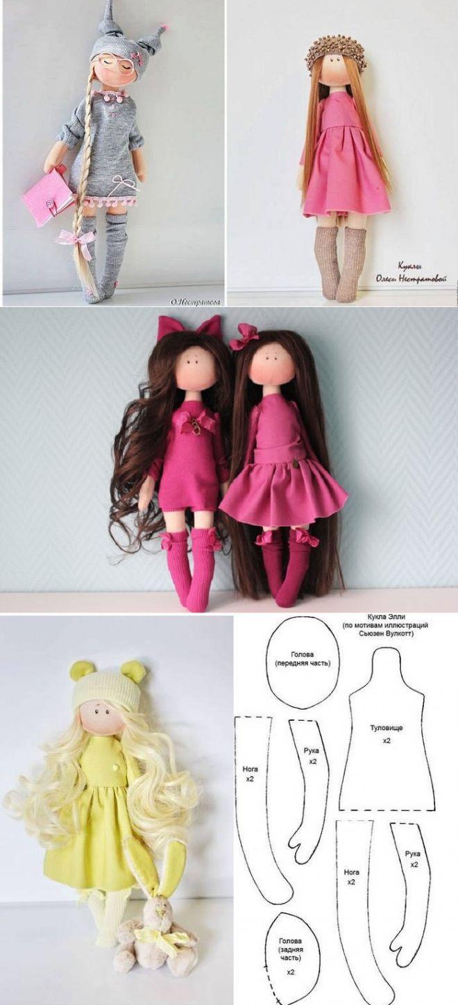 Шьем куклу своими руками выкройки и фото
