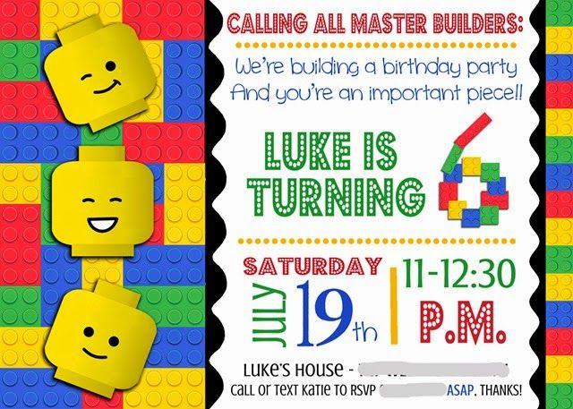 Lego Invitation smudged                                                                                                                                                                                 More
