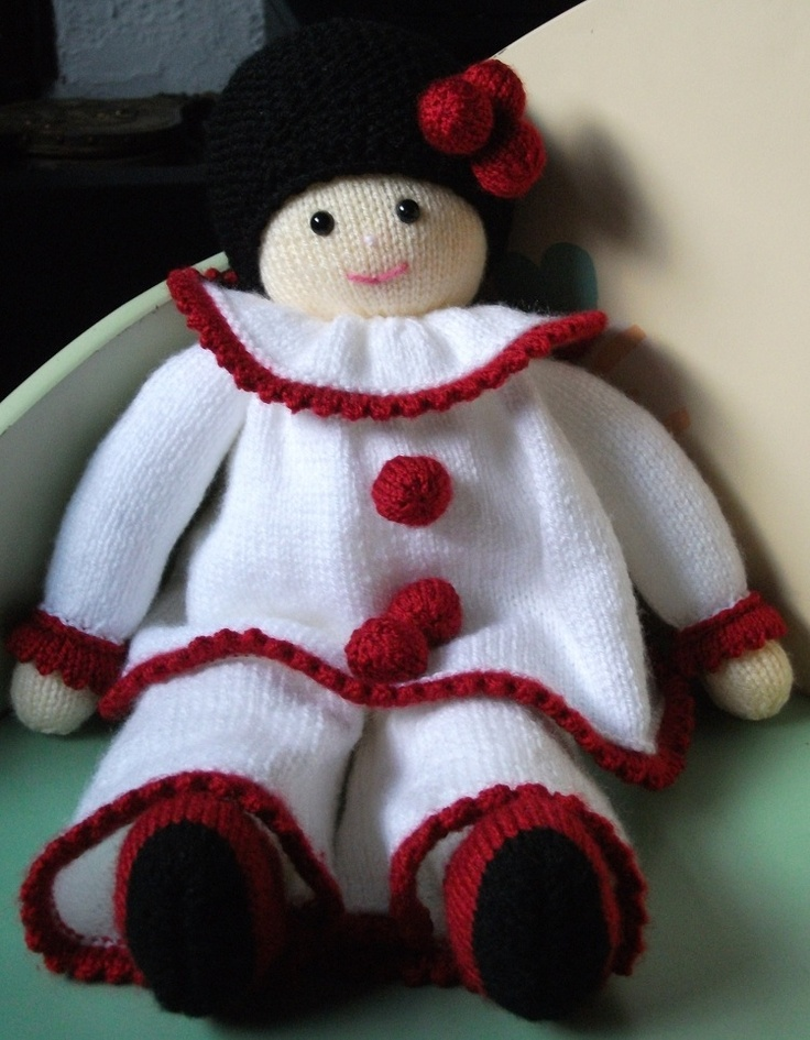 Pierrot Doll Made From A Jean Greenhowe Pattern