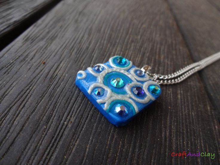 This unique 'Beautiful Bubbles' pendant was made by me out of polymer clay and Swarovski rhinestones. Would you like for this to become yours? You can find it here: https://www.etsy.com/au/shop/CraftAndClayUniverse?ref=hdr_shop_menu