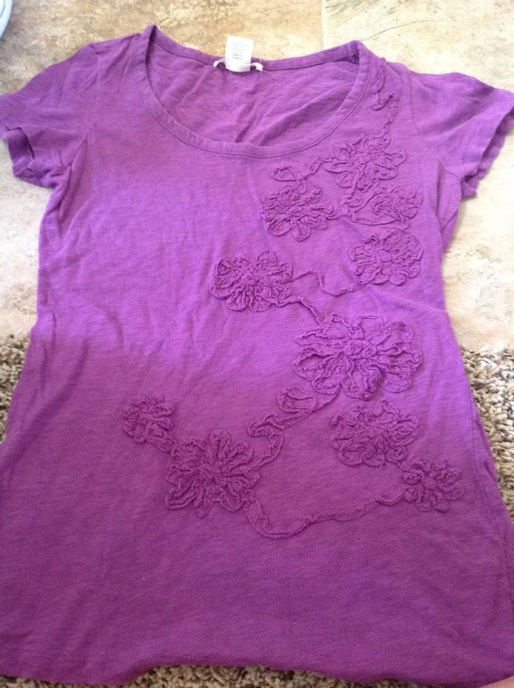 Charlotte Russe Light Purple Tee Small #CharlotteRusse #KnitTop