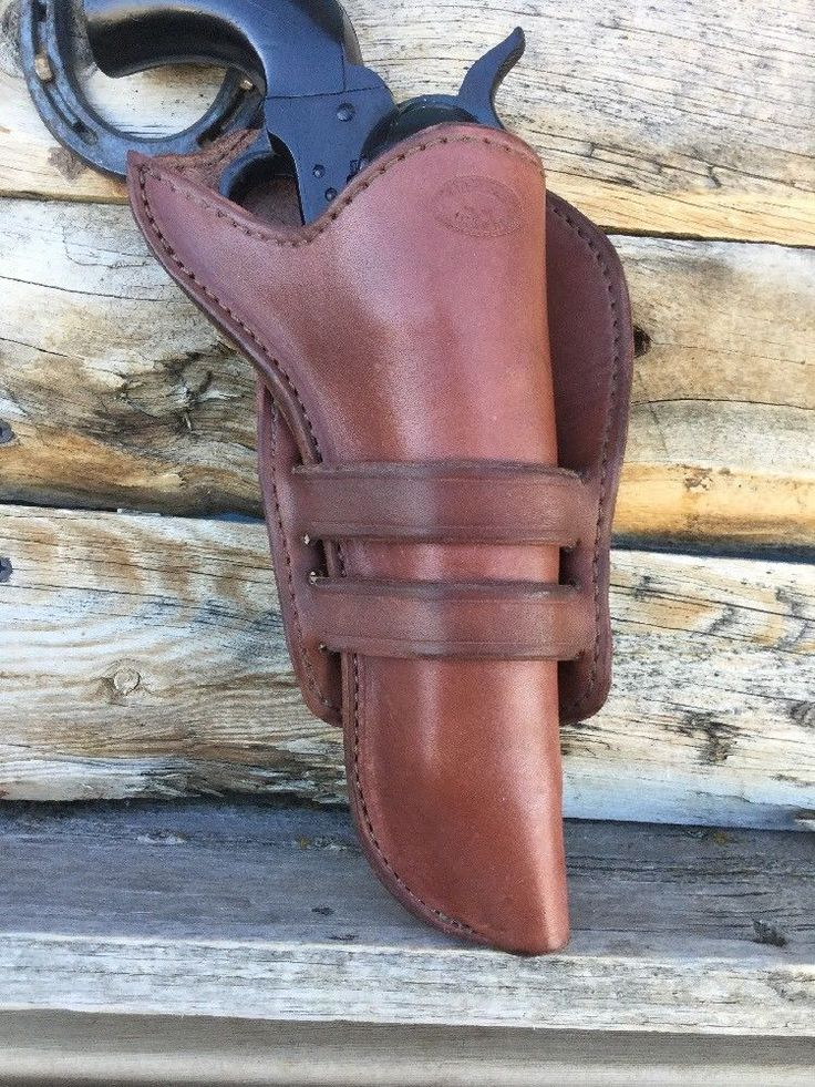 """Leather Western Cowboy Holster For 5 1/2"""" Single Action Revolver, US Made (509)  