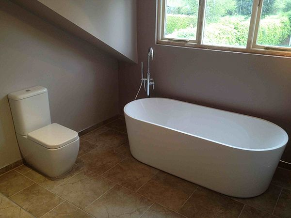 Picture Gallery For Website Freestanding Bath for a Leeds bathroom installation project by UK Bathroom Guru