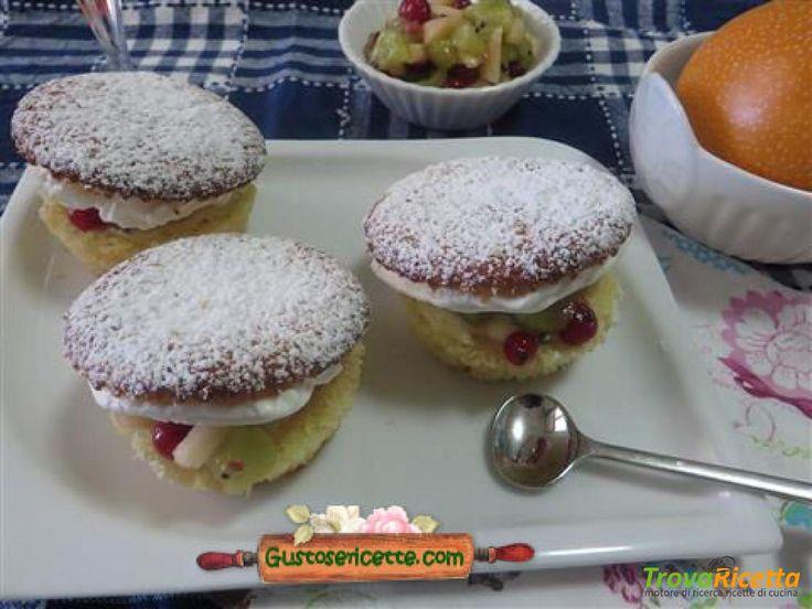 Muffins granadilla champagne frutta fresca  #ricette #food #recipes