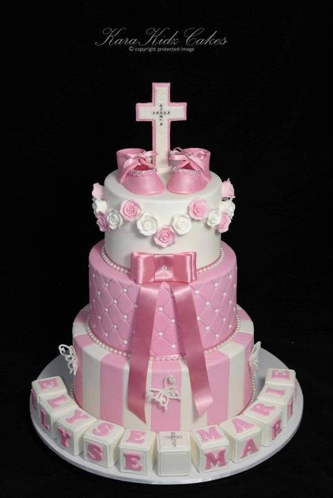 3 Tier Christening Cake By Karakidz Cakes Baptism And