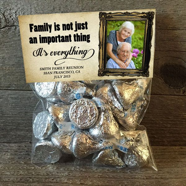 20 30 40 50 Family Reunion Family Gatherings Treat Bags Party Favor Stickers and Bags Included by PartiesR4Fun on Etsy