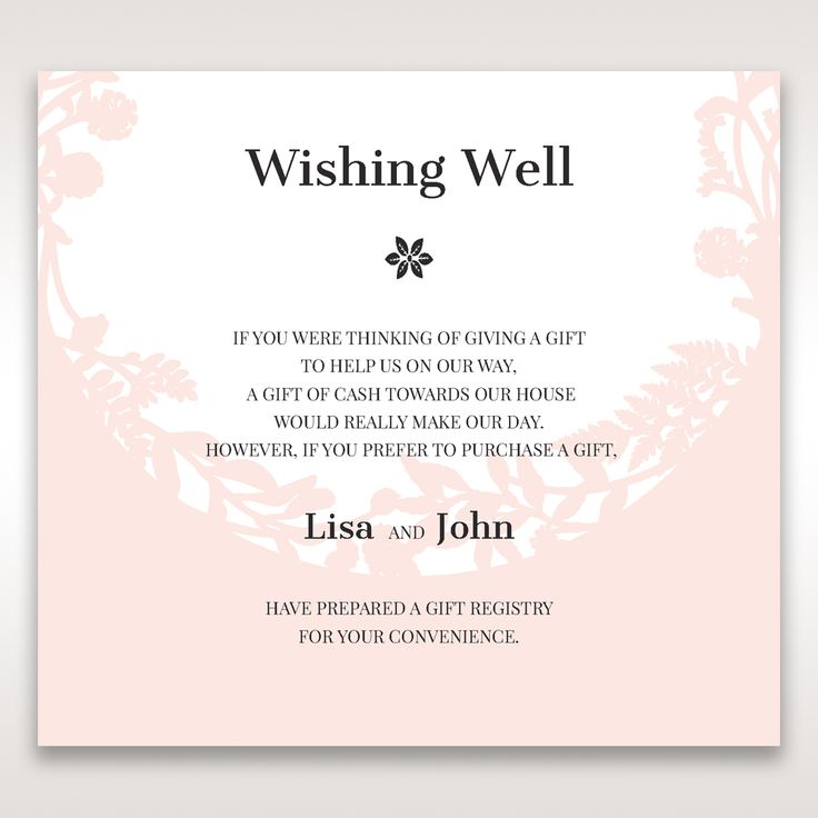 Wedding Wishing Well Wording