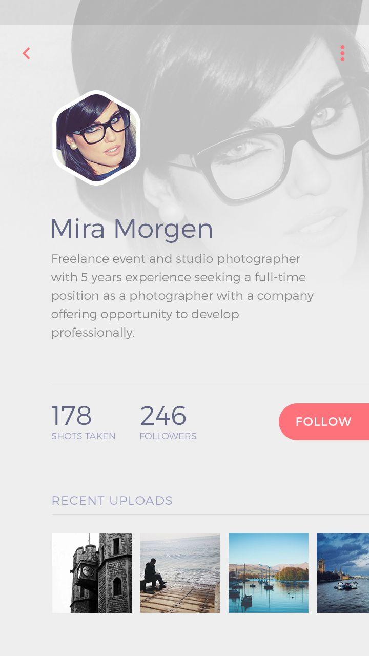 Photo app profile light