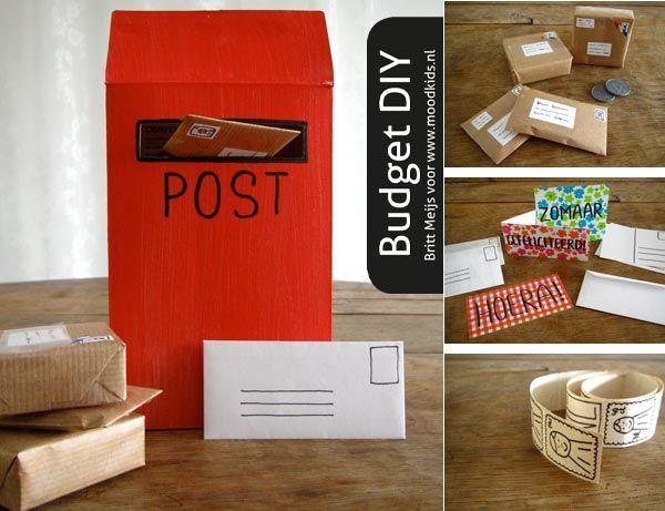 Postkantoortje spelen met je zelfgemaakte postkantoor | Moodkids