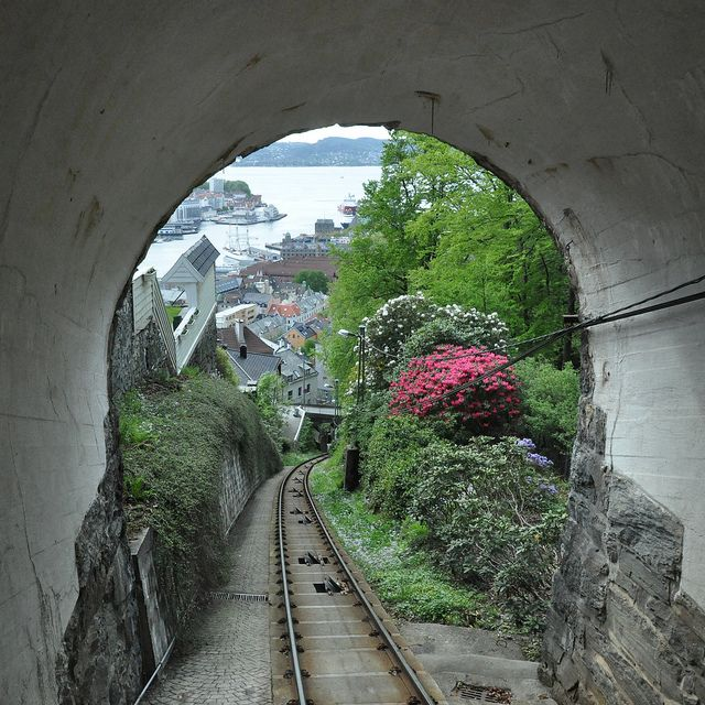 The Funicular in Bergen, Norway.