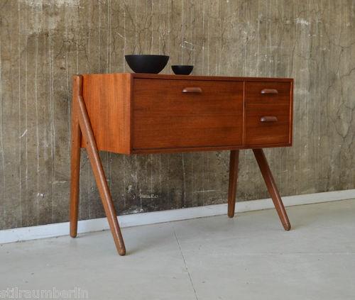 60er TEAK Kommode DANISH MODERN 60s chest of drawers cabinet hvidt vodder era   eBay
