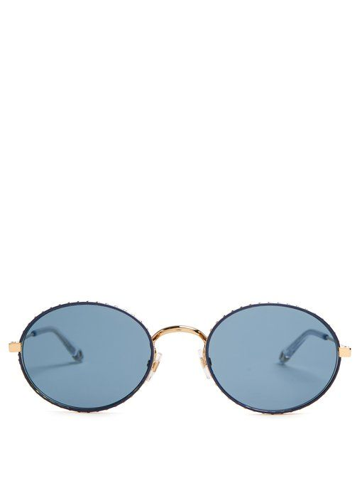 719964e01 Givenchy Oval-frame metal sunglasses Oculos De Sol, Givenchy, Gucci,  Moldura Oval