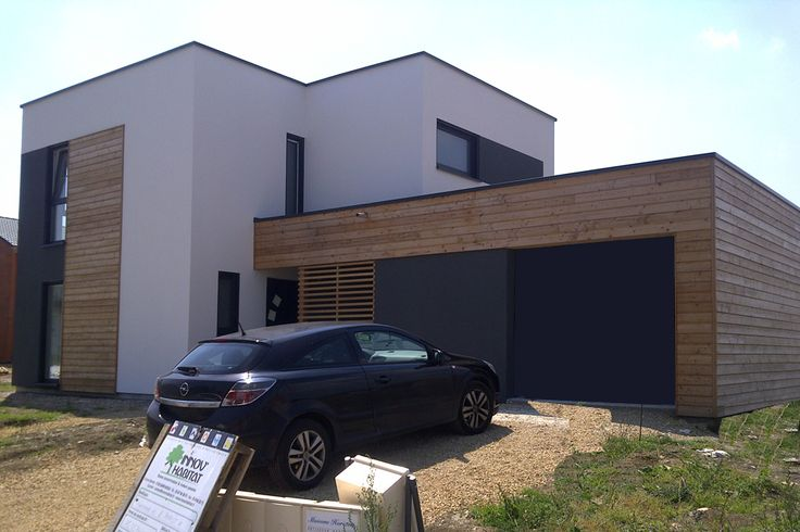 Tendances bardage bois et crepi photo n 2 ext rieur for Garage exterieur design