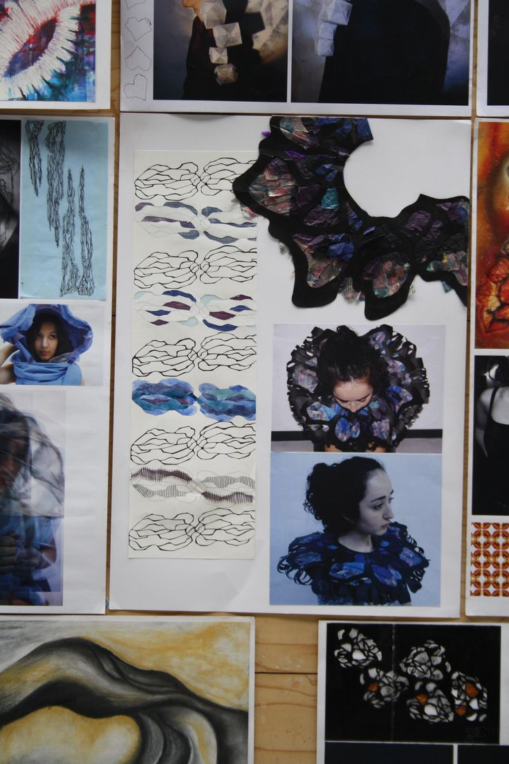 Student work from folio accepted for GSA textile design and fashion design 2013 detail