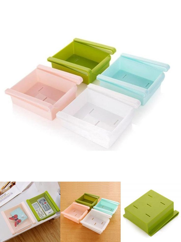 [Visit to Buy] Fridge Freezer Slided Kitchen Organization Storage Box Rack Holder Tool #Advertisement