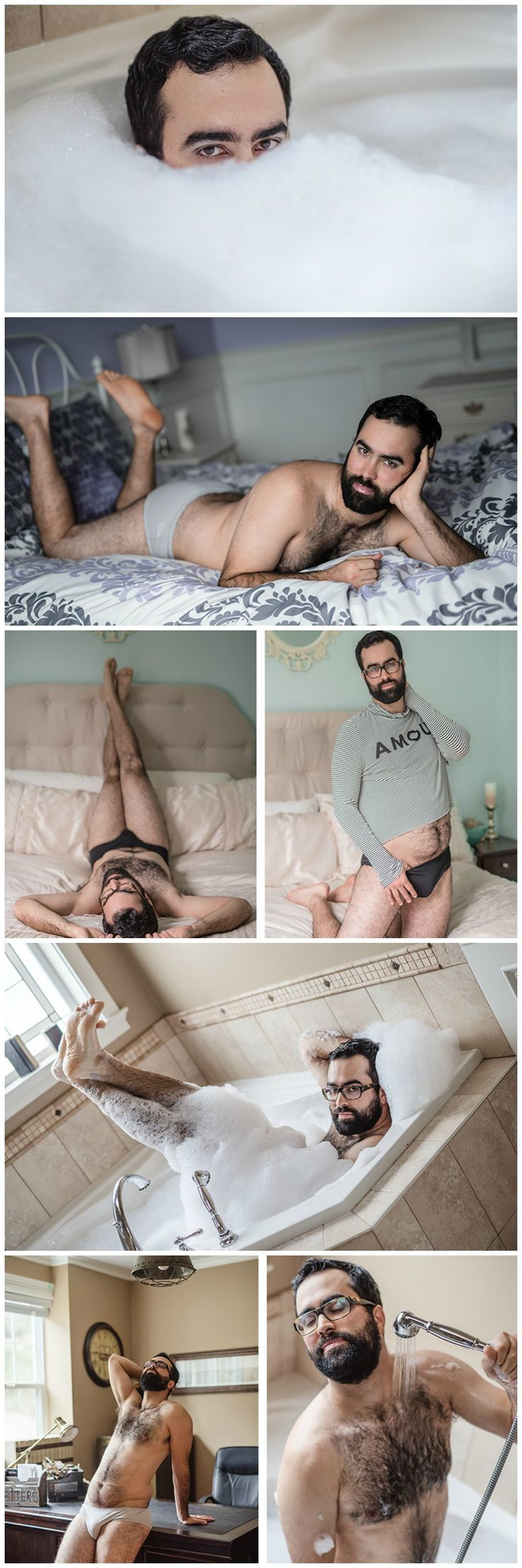 Husband gifts his wife with hilariously sexy boudoir photos. Via Masika May Photography                                                                                                                                                     More