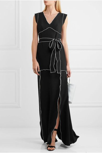 Boutique Moschino - Belted Crepe Gown - Black - IT38