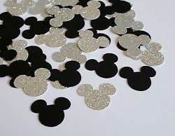200 Disney Inspired Hollywood Glam Mickey Mouse Confetti Sprinkles Table Decor