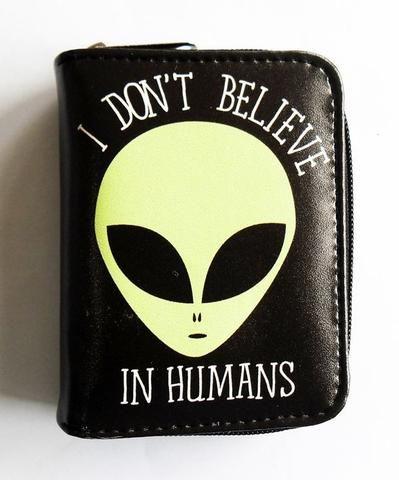 ALIEN I DON'T BELIEVE IN HUMANS WALLET