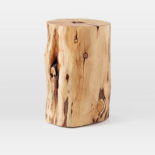 Natural Tree Stump Side Table | west elm