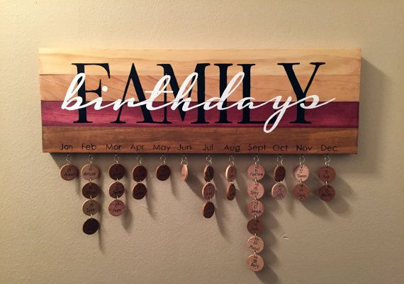 Family Birthdays Sign  Hand Painted by Kreatme on Etsy
