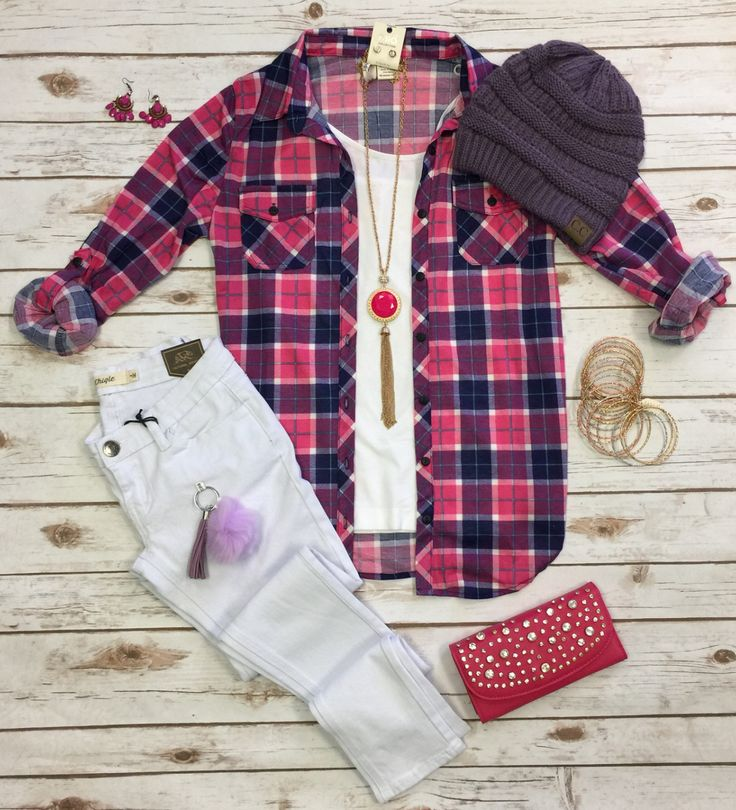 Top 25 best purple fall outfits ideas on pinterest how for Athletic cut flannel shirts