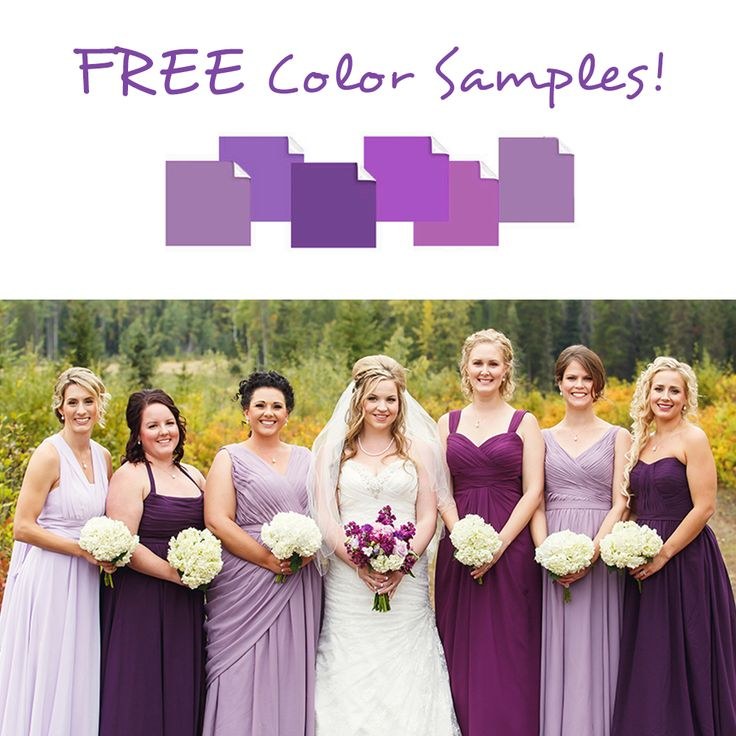 FLASH OFFER! Get 6 FREE color samples before ordering your bridesmaid dresses!