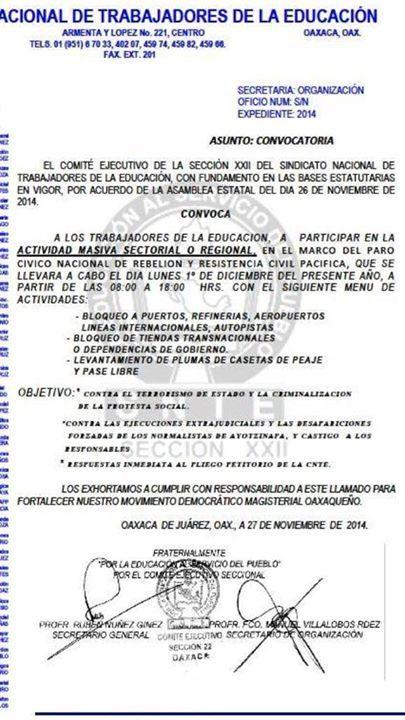 Acciones de #DesobedienciaCivil.. todas. #1DMx2014 En el interior del estado de Oaxaca se tomará la refinería de PEMEX, casetas de cobro, aeropuertos y puertos #1DMX- http://www.pixable.com/share/5YZU1/?tracksrc=SHPNAND2&utm_medium=viral&utm_source=pinterest