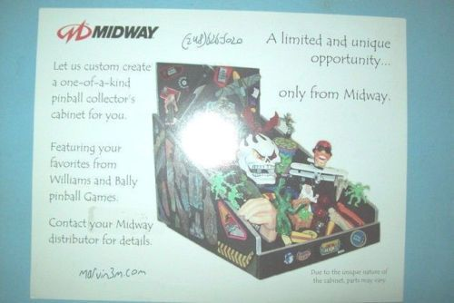 Original-Flyer-for-Midways-Pinball-Collectors-Cabinet-with-Pinball-Parts