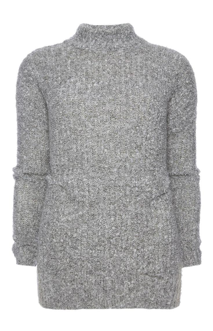 primark grauer pullover mit hohem kragen 16 siv pulover. Black Bedroom Furniture Sets. Home Design Ideas