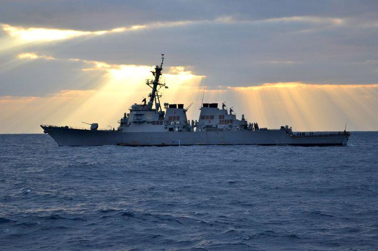 """USS Curtis Wilbur DDG-54 PHILIPPINE SEA (Feb. 1, 2012) - 4"""" x 6"""" Photograph"""