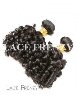 Bouncy Curls - Grade 10a Virgin Human Hair -200G Machine Weft 2 Bundles