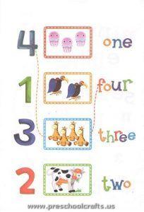 kindergarten numbers worksheets