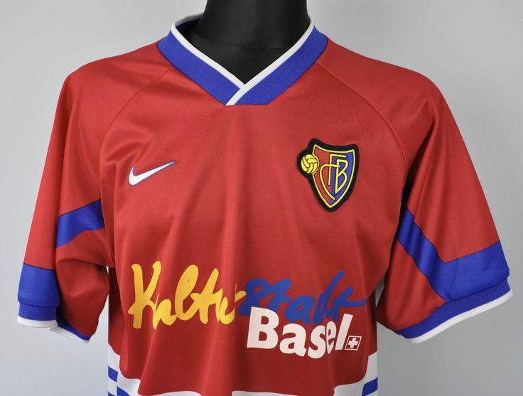 FC Basel Swiss 1997/98 Home Camicia XL Nike MALLOT TRIKOT VINTAGE JERSEY CAMISETA | eBay