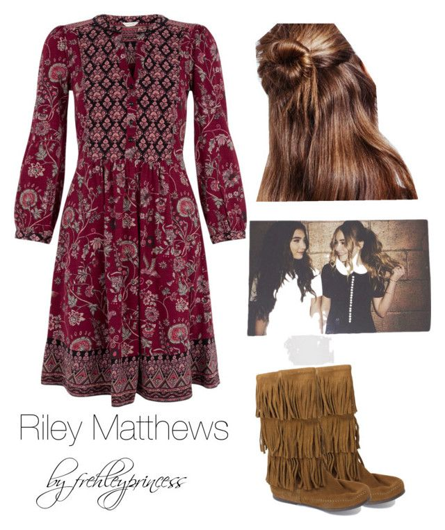 """""""Riley Matthews inspired outfit"""" by frehleyprincess on Polyvore featuring Monsoon and Minnetonka"""