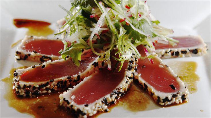 Sesampanert tunfisk