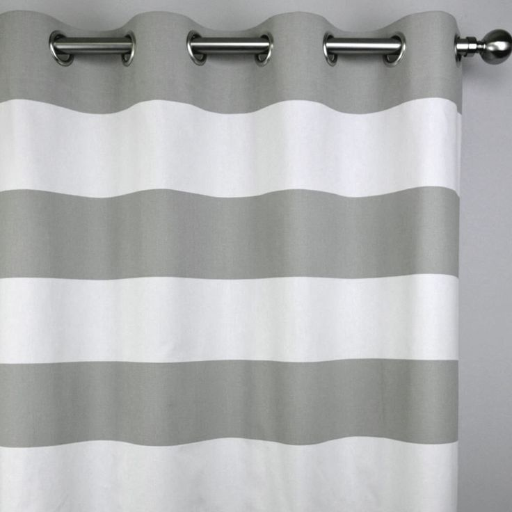 Gray White Modern Horizontal Stripe Cabana Curtains - Grommet - 84 96 108 or 120 Long by 24 or 50 Wide Optional Blackout Lining by Zeldabelle on Etsy https://www.etsy.com/listing/207019883/gray-white-modern-horizontal-stripe