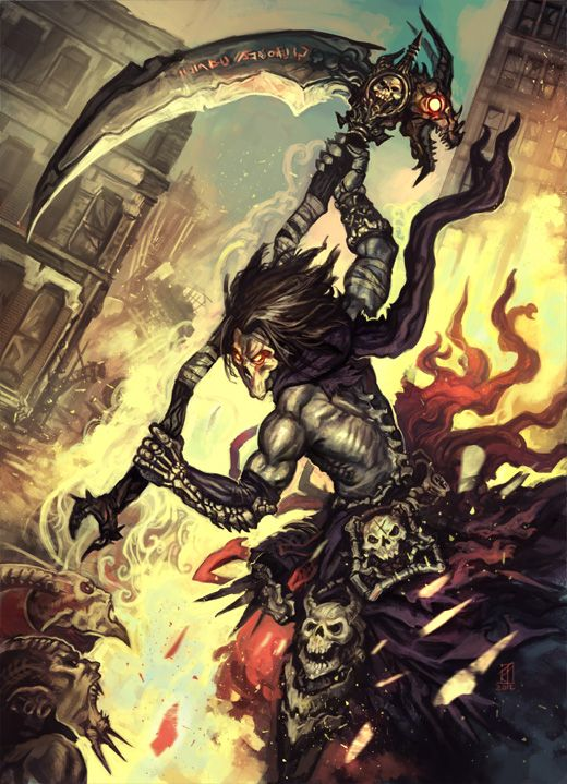 Darksiders 2 fan art by ~fallen-eye wow........kinda want this game back