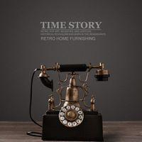 Европейский винтаж телефон модель ностальгия главная обстановка украшение ретро телефон фотографии реквизит украшения для баров, кафе