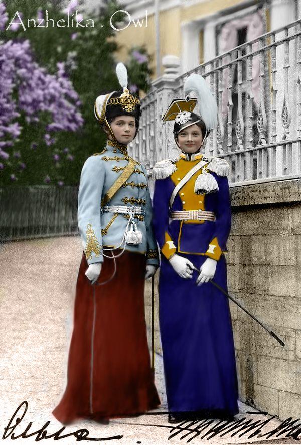 Grand Duchess Olga and Grand Duchess Tatiana of Russia.